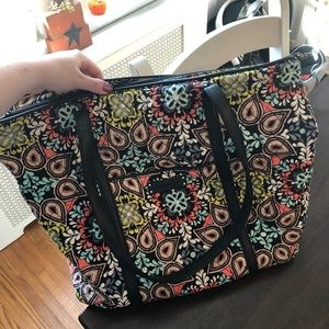 Large quilted Vera Bradley tote